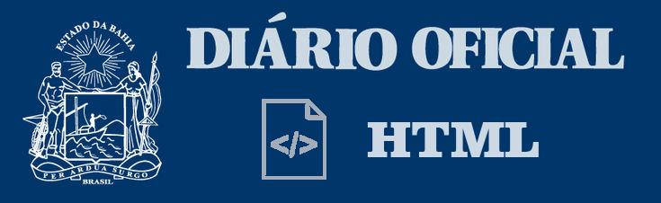 Acessar o Diário Oficial Versão HTML