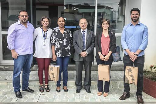 Equipe da CDA em visita à Egba